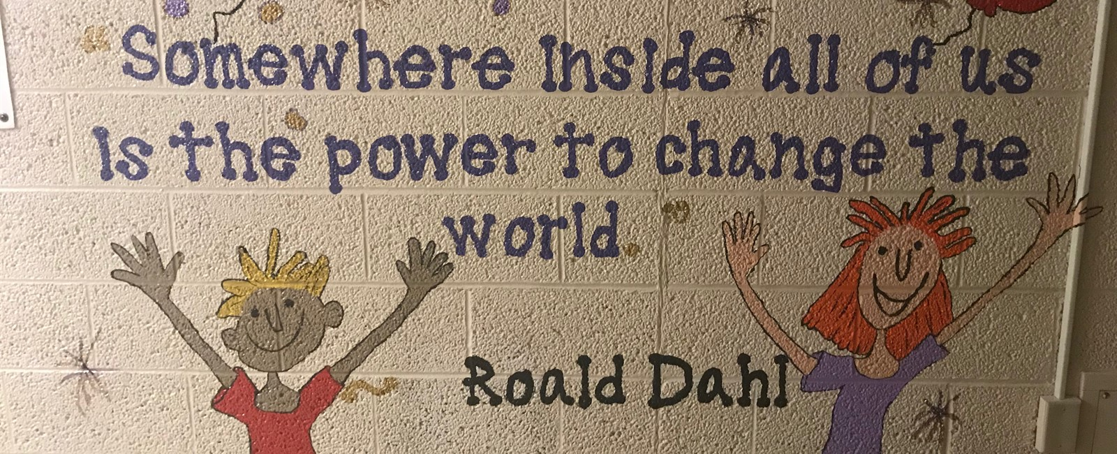 Positive messages can be seen throughout B.L. Miller Elementary School.