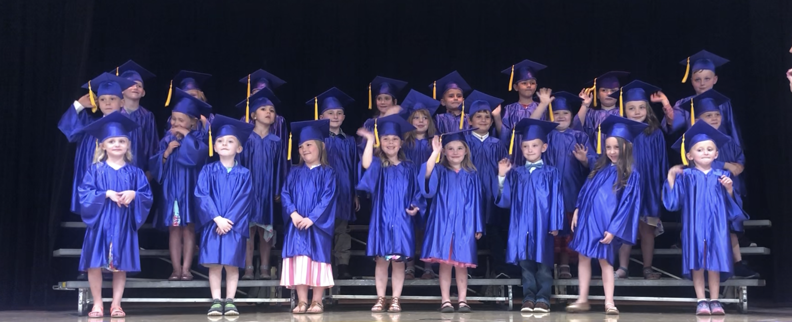 B.L. Miller Elementary School's kindergarten class celebrated graduation on Wednesday, May 22, 2019.