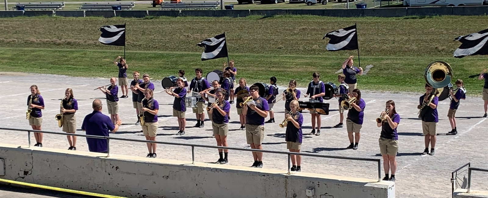 The high school marching band had an awesome performance at the Canfield Fair this year!