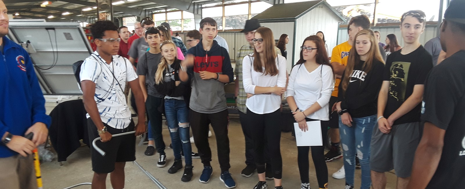 Two groups of McKinley students attended the first Skilled Trades Expo held at the Canfield Fairgrounds.