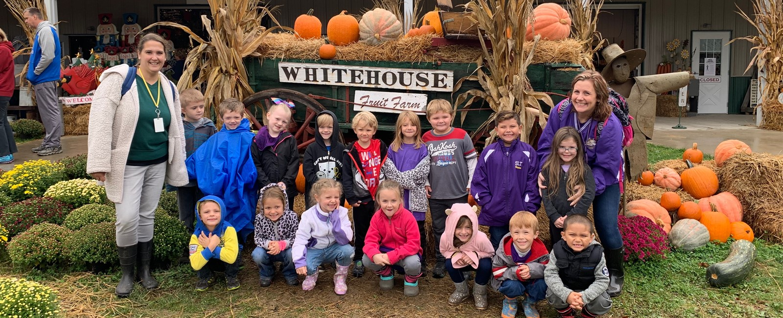 Our kindergarten classes enjoyed their apple orchard tour on a field trip to White House Fruit Farm.