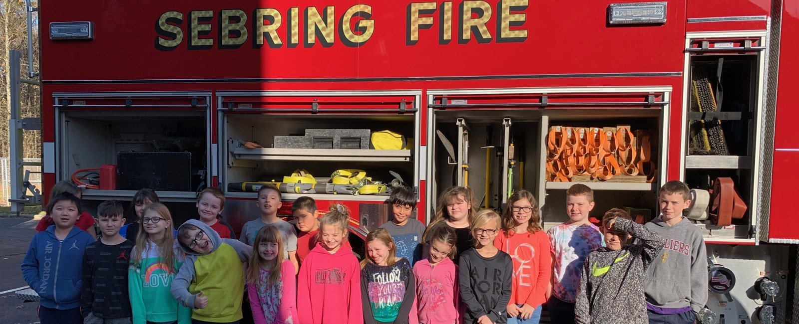 Our students learned a lot about fire safety and how to be prepared in school and at home!