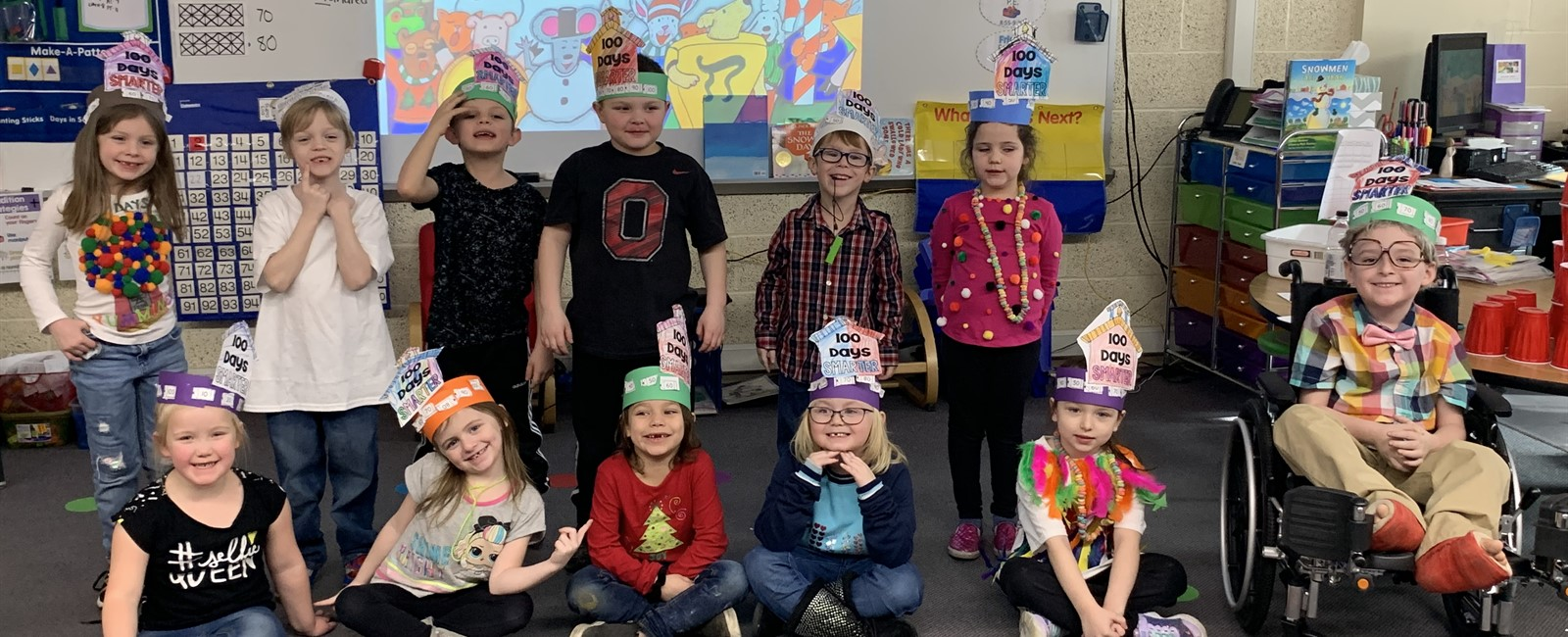 Our Kindergarten classes are 100 days smarter!