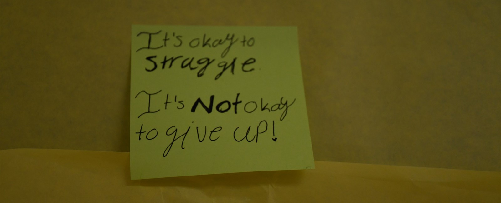 It's okay to struggle. It's NOT okay to give up!