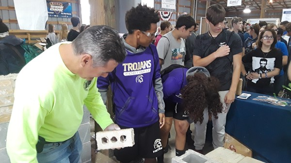 A group of sophomore students attended the first Skilled Trades Expo at the Canfield Fairgrounds.