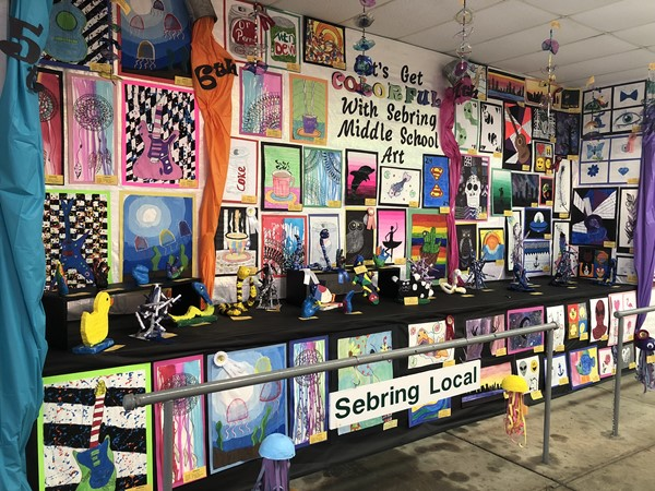 Sebring McKinley Junior High School students' art on display at the Canfield Fair.