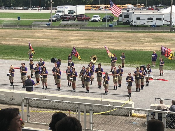 Sebring McKinley High School Marching Band performs at the Canfield Fair's band demo.