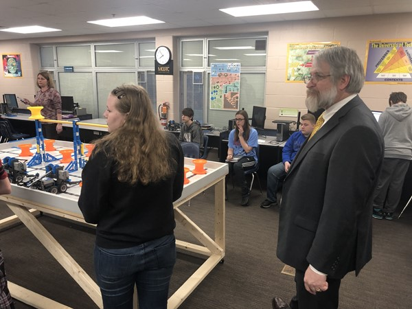 Paolo DeMaria, Ohio Department of Education's Superintendent of Public Instruction, visited Sebring Local Schools on Friday, March 29, 2019.
