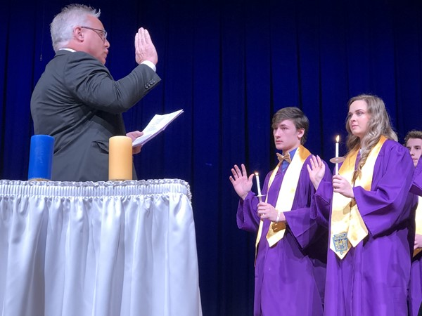 Sebring McKinley High School's National Honor Society Induction Ceremony on Thursday, March 14, 2019.