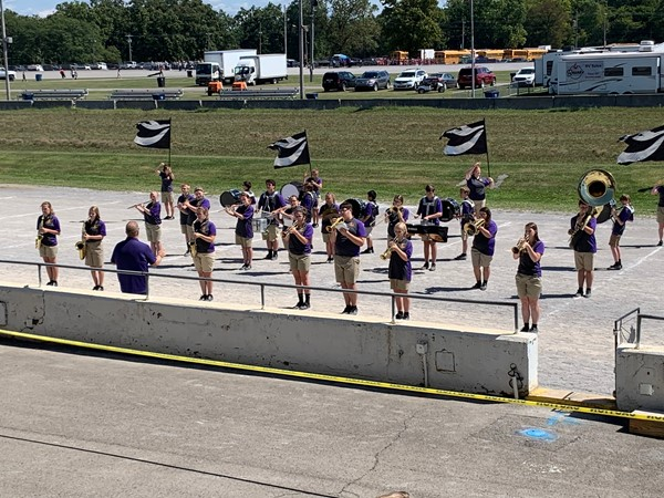 The Sebring Marching Band performed their halftime show at the Canfield Fair.
