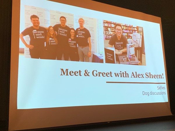 Students got to take part in a Meet & Greet with Alex Sheen, founder of Because I Said I Would.