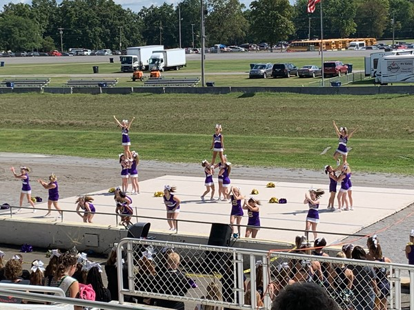 Our Cheerleaders performed in the Canfield Fair Cheerleading Demonstration.