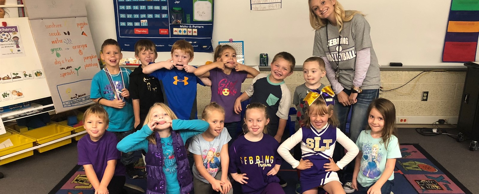 Kindergarten students enjoying Spirit Week