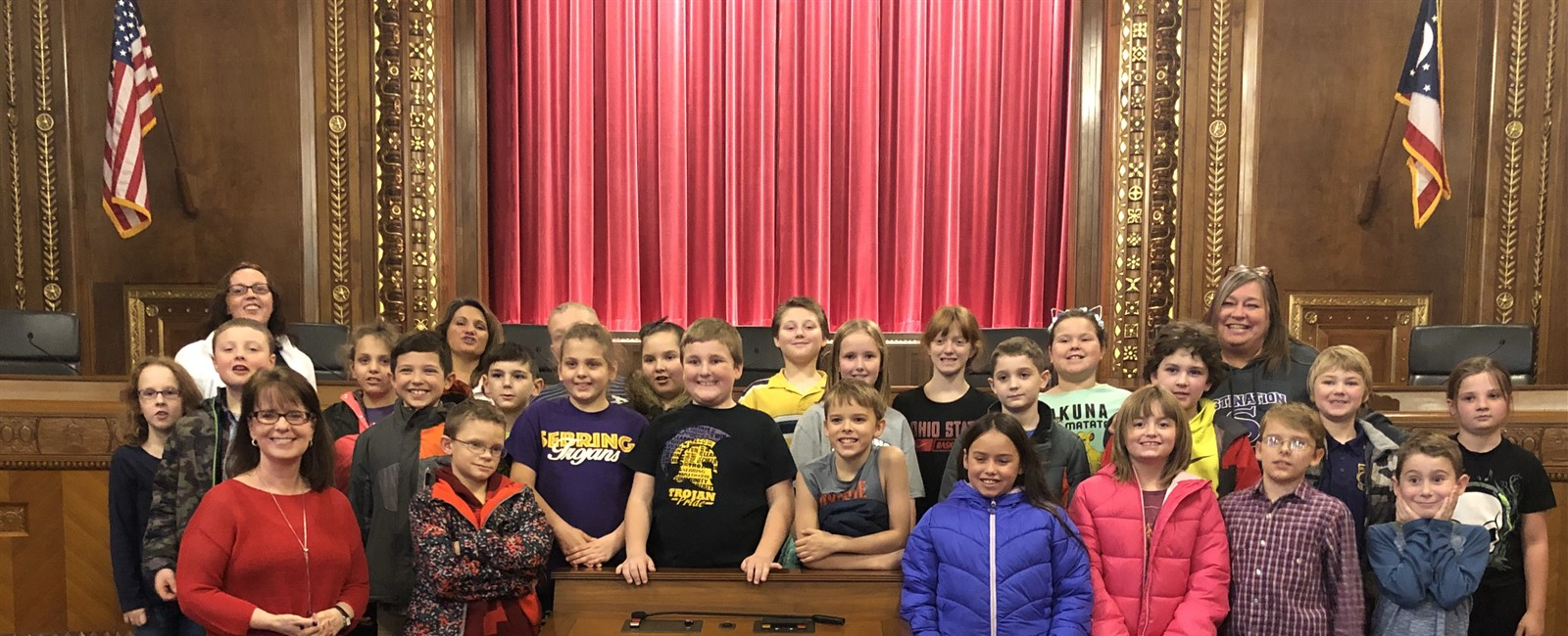 Ohio Supreme Court Justice Judith French took the time to meet B.L. Elementary School students on their tour of the Ohio Supreme Court. Justice French is a Sebring alumna.