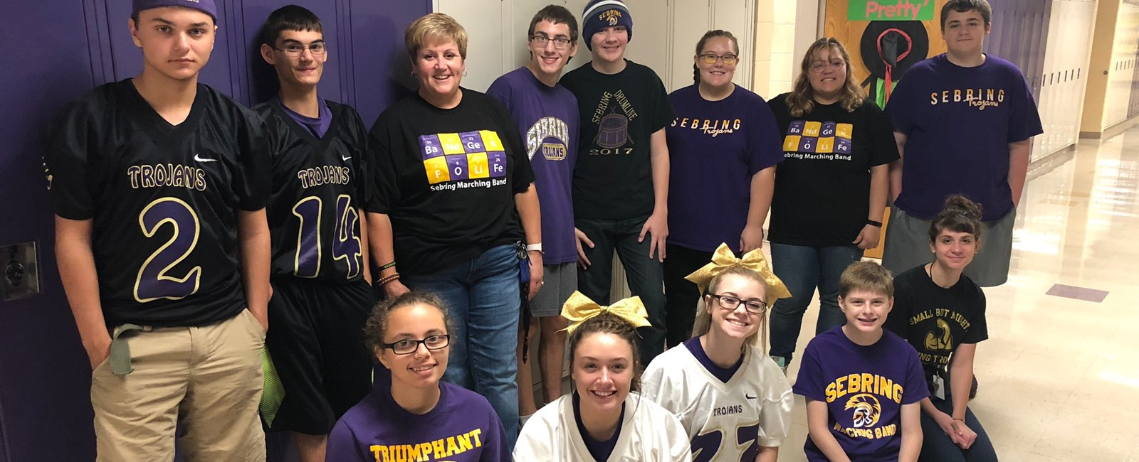 Purple & Gold day during Spirit Week at Sebiring McKinley High School.