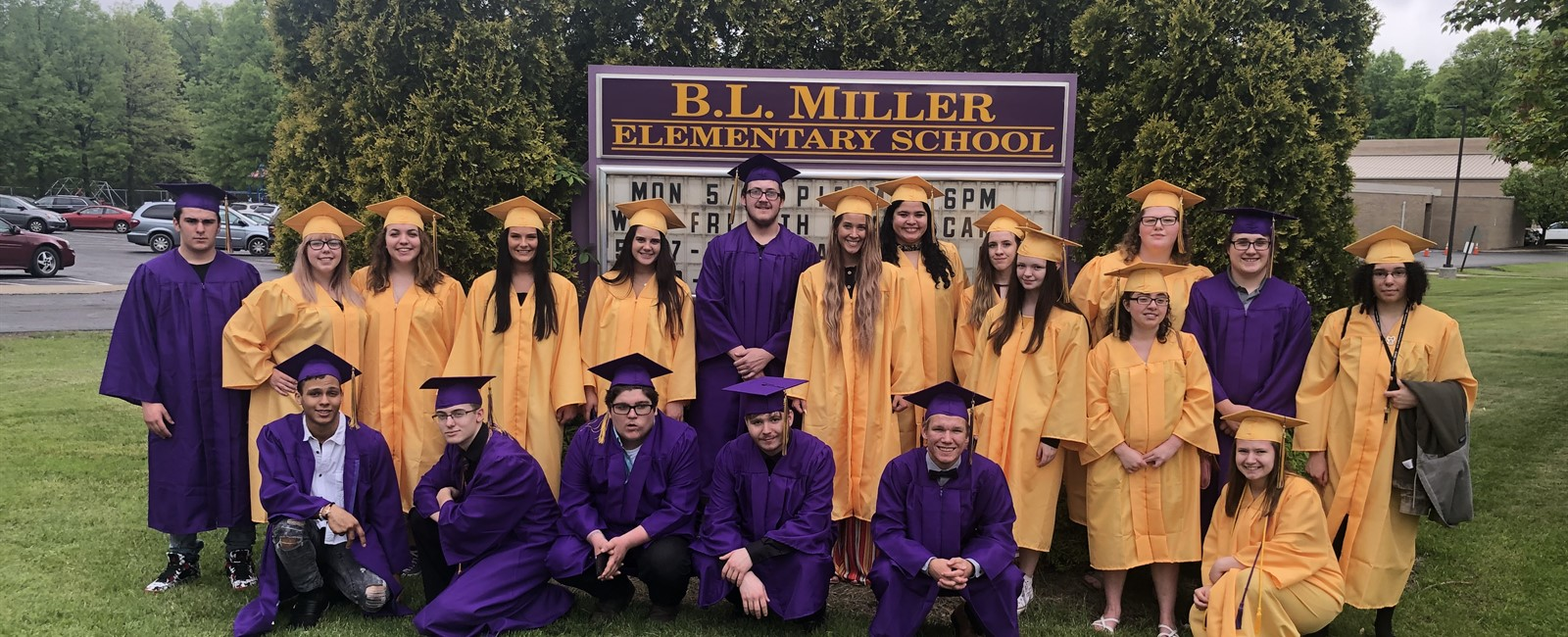 Seniors returned to visit B.L. Miller Elementary School one last time before graduation.