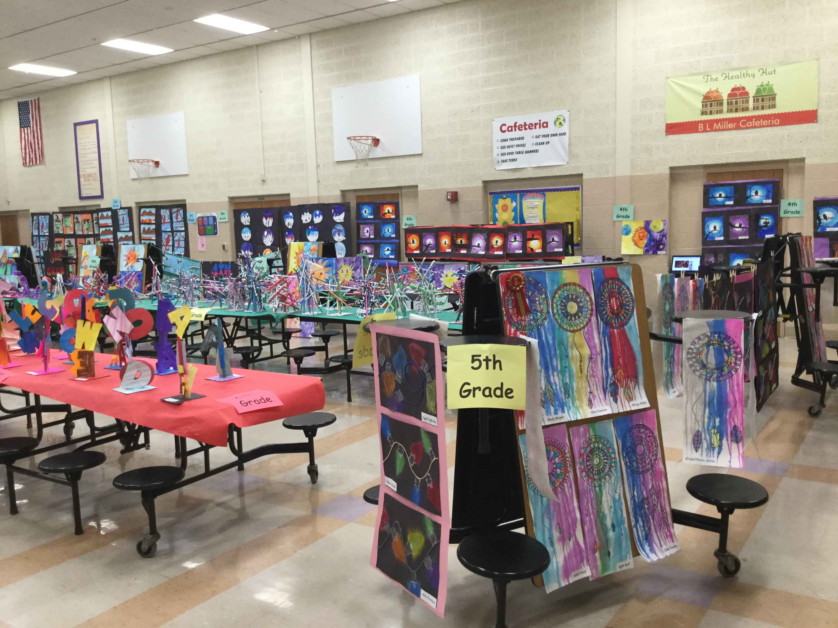 B.L. Miller Elementary School Art Show at parent-teacher conferences on Thursday, February 14, 2019.
